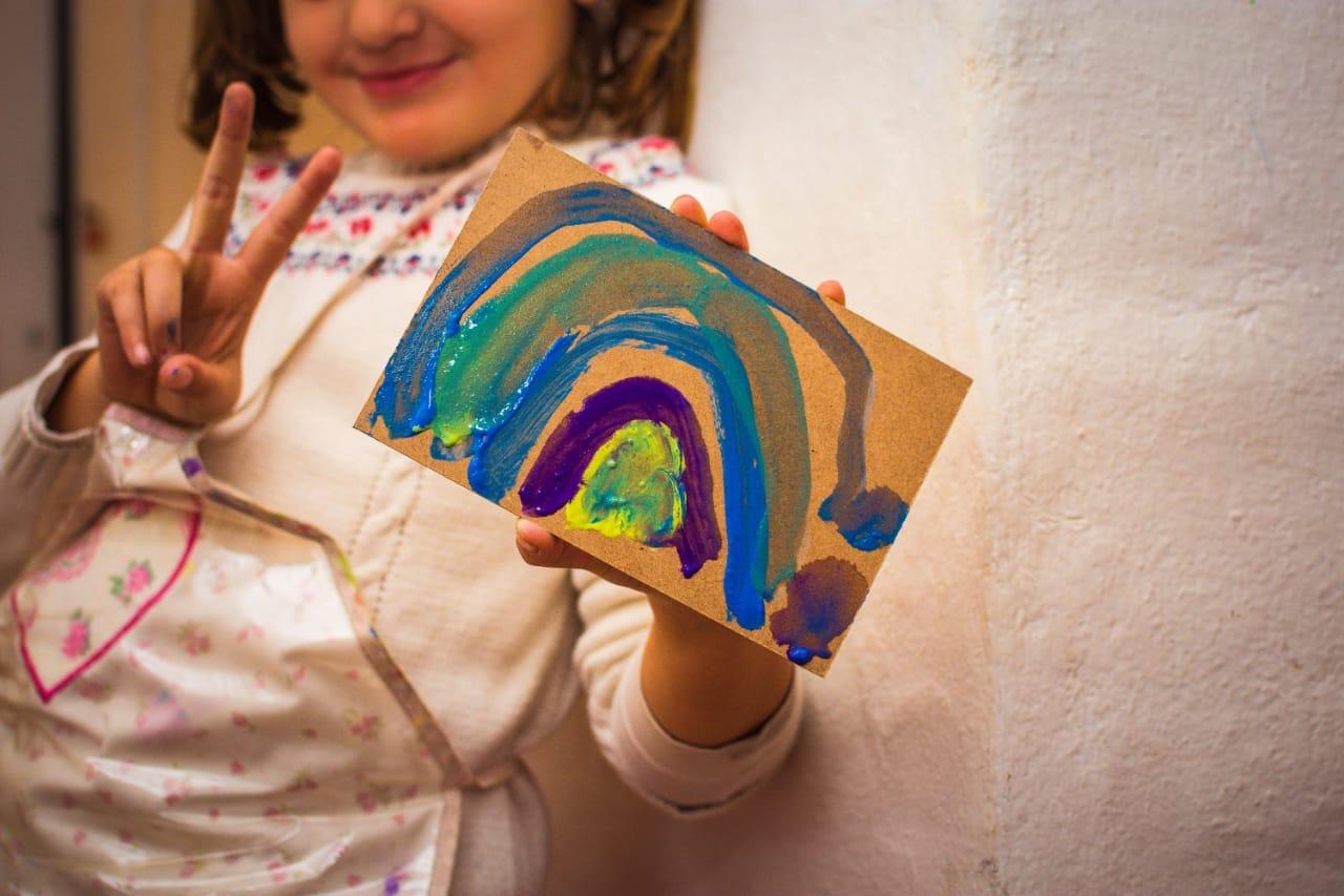 pintando con temperas